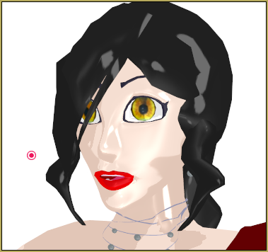 Camila with Realistic Eyes with Toon Shader