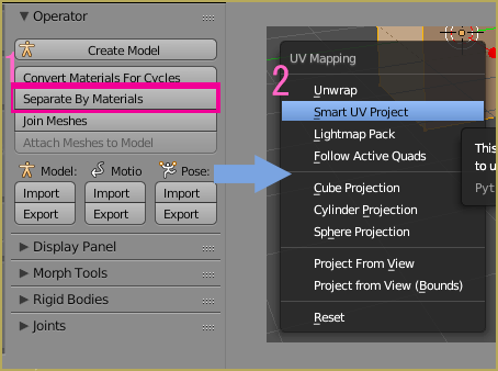 How to use Smart UV Project