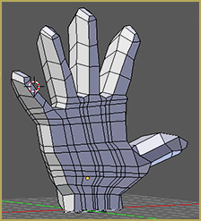 3D Hand Extruded from Plane