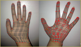 Final Edited UV Maps for Hands