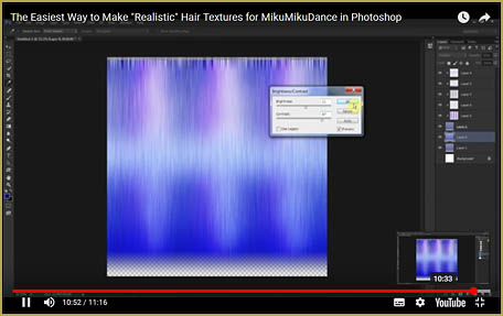 Easily Make Realistic Hair Texture for MMD Models