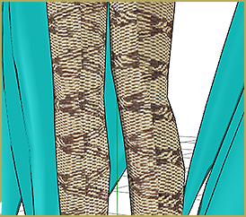 Miku's Stockings with Smart UV Project
