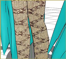 Miku's Stockings with Hand Made UV Map
