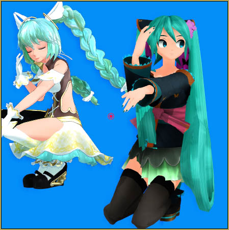 "Miku Cagada ""reads"" her pose data differently from my Angelpie!"