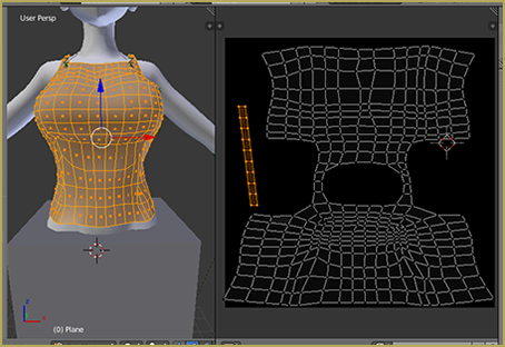 Top and UV Map