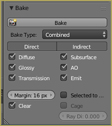 Bake Settings for Combined Type