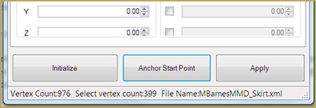 Location of Anchor Start Point in the Skirt Plugin for PMXE