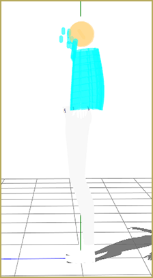 Model from Reader with only bodies for the head and hair