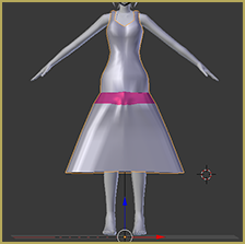 Unused, difficult to rig dress