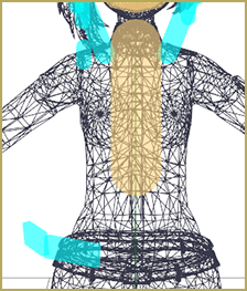 Incorrectly sized body created by using drop down menu in wireframe view.