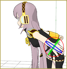 Luka's hair falling through her body due to non-collision groups