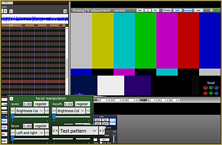 The PostAnalogTV effect includes a TV-style video Test Pattern!