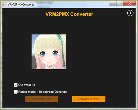 Convert VRoid Studio to MMD With One Click