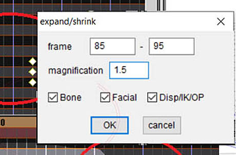 MMD has an EXPAND function that lets you adjust a motion's speed.