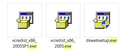 The .exe files I have.
