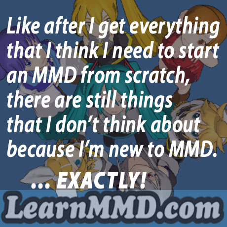 Starting-out Using MMD starts you on a learning path.