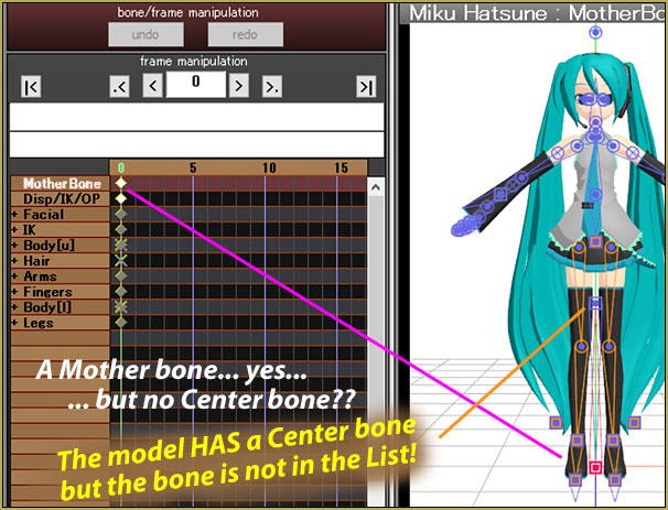 Keep the Center-Bone when adding a Mother-Bone to an older model! The Center bone was no longer in the list!