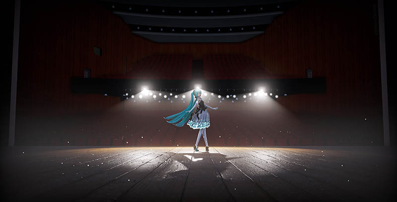 You'd never know that Miku's theatre is only a SHELL of it's original self... but my MMD was able to process this scene in RECORD time!