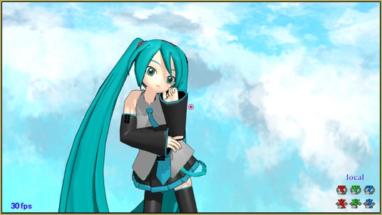 Kaitensora effect gives moving clouds background in your MMD scene.